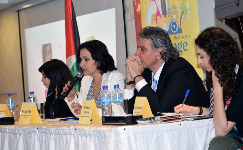 From Left to Right: Ms. Jennine Abdul Khalik, Ms. Nour Odeh, Mr. Khaled Shahwan, and Moderator Ms. Zaina Naser